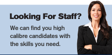 Right column - Looking For Staff?